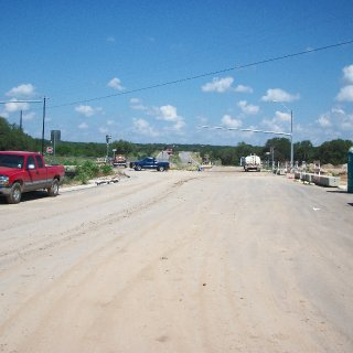 the roadway thats being built accross the original road to the park. was a total suprise to us