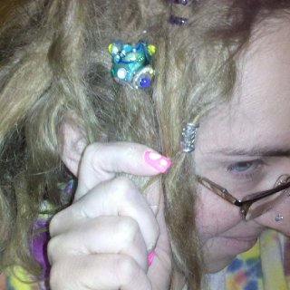 My new lampwork dread bead from the very talented Beatlebaby Glassworks (on etsy.com)!