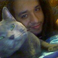 me and me kitty.. rainy his name is