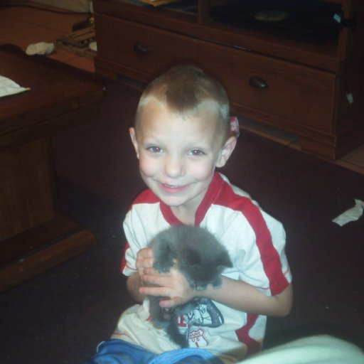 ty and baby kitty...