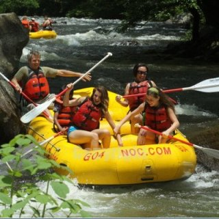 white water rafting down the nantahala!
