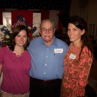 My sister and I with my Granddad!