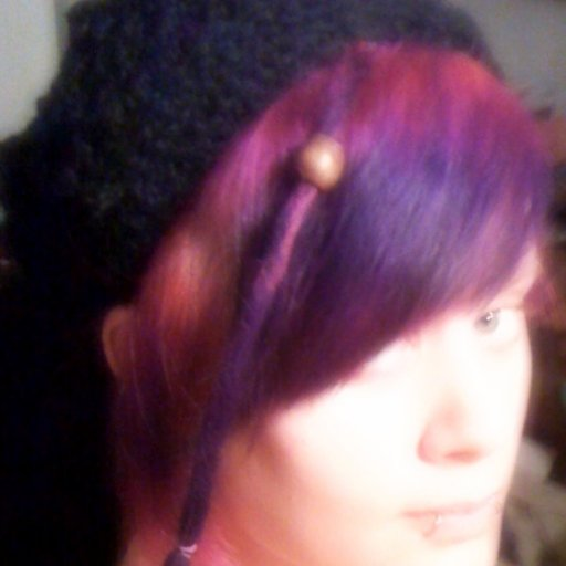 purple dread and homemade bedtime tam