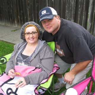 My husband Joe and I at the 4th of July parade.