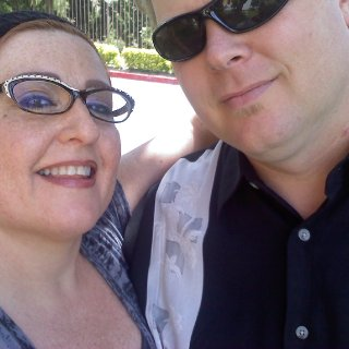 My husband Joe and I.