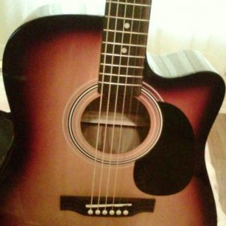 My first acoustic electric guitar! Now I just need to learn how to play...