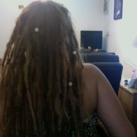 dreads back - right after a nice wash