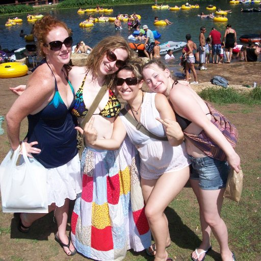 Rivah time with my sistahs; Kelly, me, Mariana, and Colby.