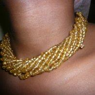 golden neck piece