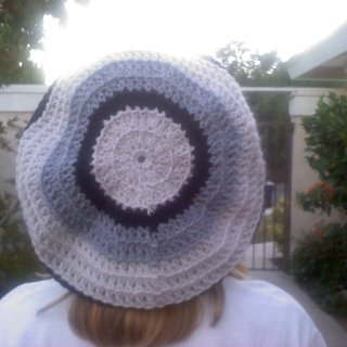 Tam #2...creme, grey and black