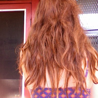 this is the back of my head.