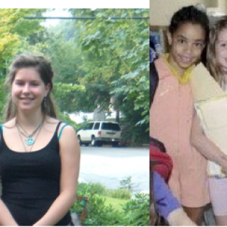 on left, 1st day of 11th grade, on right 1st day of 1st grade!