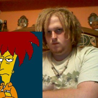 appearantly I look like Sideshow Bob lol.