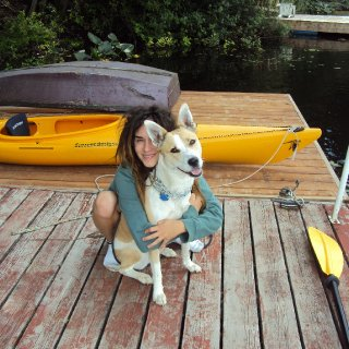 me & doggy in BC