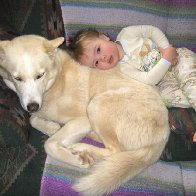 Solomon resting with Homer...Brook & Judah's son (aka Homey)