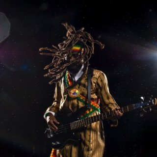 He rocks! Dreads over 10 years.