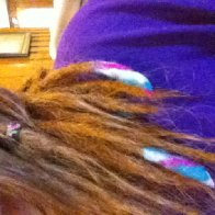 Felted dreads on end
