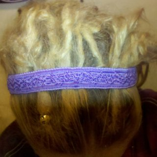 Top of dreads, after 3 mo. natural, then backcombed gently, then back to natural for 5 mo.