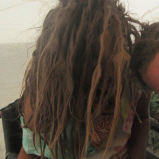 playa fied locks after a burning man dust storm