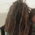 Playa-fied locks after a Burning Man dust storm