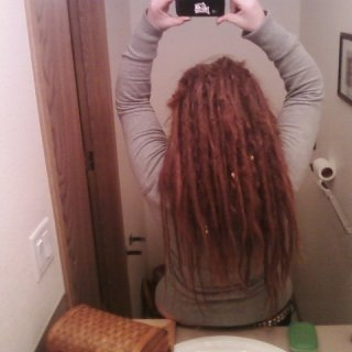 dreads have puffed out majorly! note length loss!