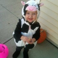 My sweet little girl on halloween