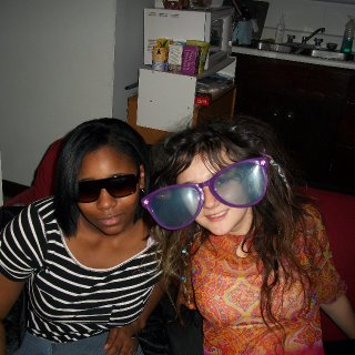 me and asiah chillin at my place celebratin my birthday :)
