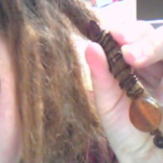 first attempt making dread coil with bead