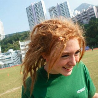 Me at my school athletics day. I'm wearing my house Tshirt :p GO SCHWEITZER