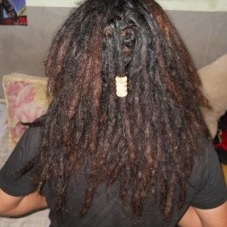 another view of my seven month dreads