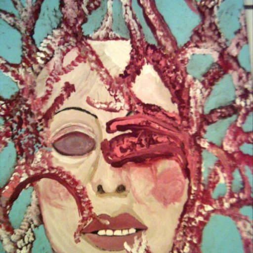 """Asleep"" mixed media painting"