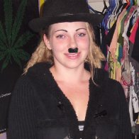 i could barely smile with that mustache on!!