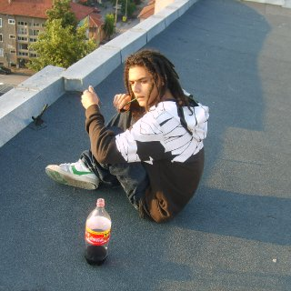July morning... on a roof :D with coca-cola, friends and some strong weed