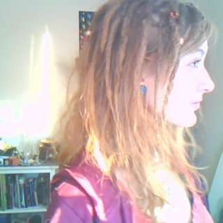 top and bottom basically finished, there's just a layer of loose hair on the sides and I need to do the back. >.