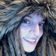 My crazy hood on my coat.