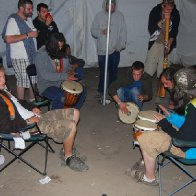 drum circle at summerdance