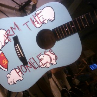 "My Acoustic take on Tom Morello's Arm the Homeless guitar i call it ""Arm The Homeless LITE"""