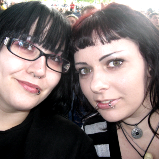 at the Nine Inch Nails concert with my friend Kara :)