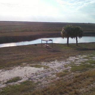 camp site off of lake okeechobee