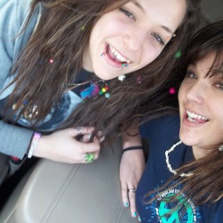 my friend amber i did her dreadss hippy sisterrrs
